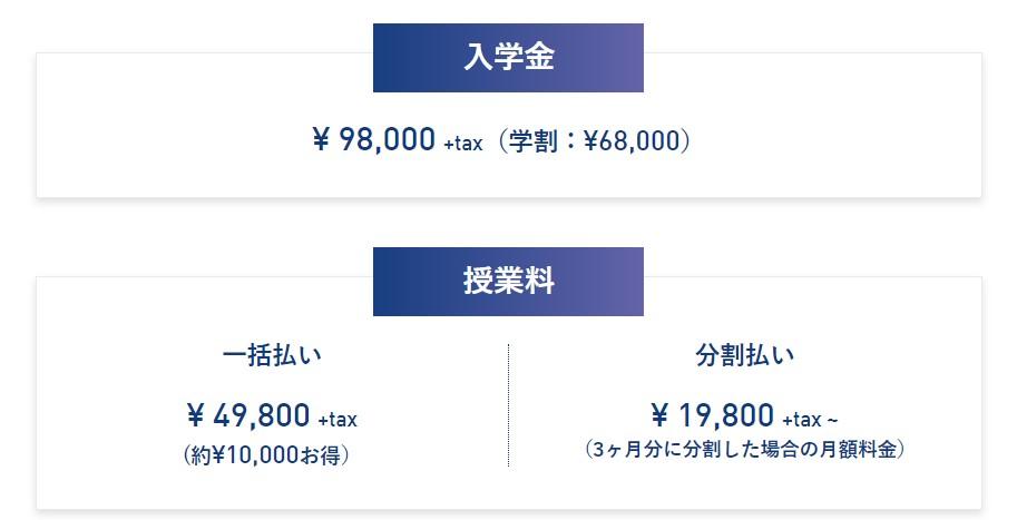 FIVE G TOKYOの料金